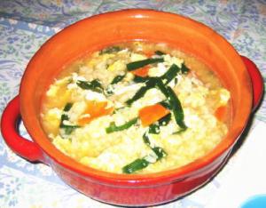 ニラと玉子の雑炊