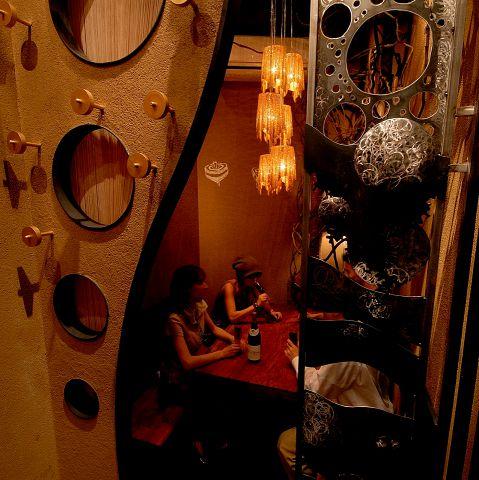 金の独楽合コンの個室