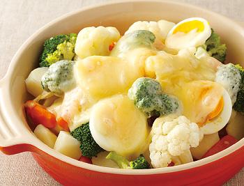 レンジ野菜チーズかけ