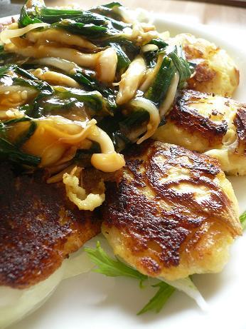 豆腐ハンバーグ中華ソース掛け