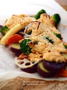 温野菜の味噌グラタン