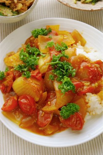 レンジで野菜カレー